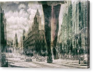 Metropolis Canvas Print - City by Zs?ka Lorincz