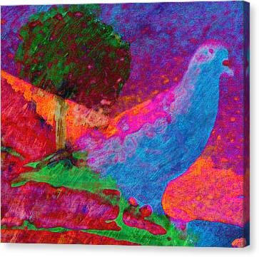 Country Scenes Canvas Print - Citybird Visits The Country by Lenore Senior