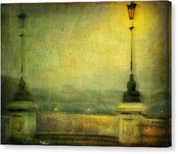 Canvas Print featuring the photograph Cityscape #29. Parisienne Walkways by Alfredo Gonzalez