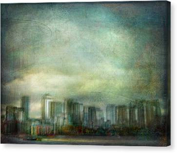 Canvas Print featuring the photograph Cityscape #32. Chrystalhenge by Alfredo Gonzalez