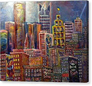 Cityscape 9 Canvas Print by Don Thibodeaux