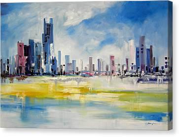 Cityscape Canvas Print by Ahmed Amir