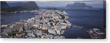 Cityscape Alesund Norway Canvas Print