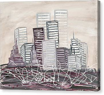 Cityscape Canvas Print by Melissa Smith