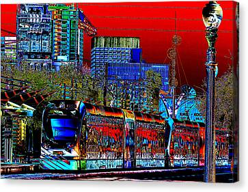 Cityscape Pop Art Canvas Print