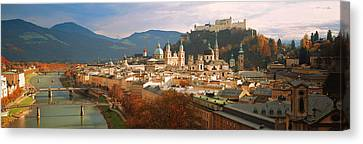 Cityscape Salzburg Austria Canvas Print by Panoramic Images