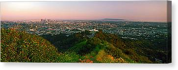 Cityscape, Santa Monica, City Of Los Canvas Print by Panoramic Images