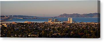 Cityscape With Golden Gate Bridge Canvas Print by Panoramic Images