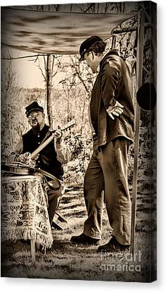 Civil War Banjo Player Canvas Print by Paul Ward