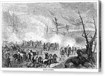 Civil War Battery, C1862 Canvas Print
