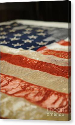 War Torn Flag Canvas Print - Civil War Battle Flag by Shawn Smith