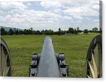 David Lester Canvas Print - Civil War Cannon  by David Lester