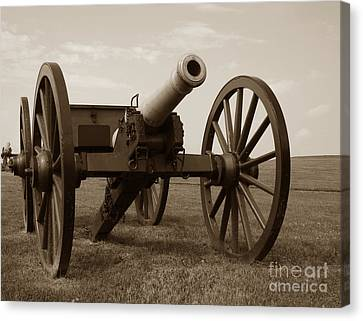 Artillery Canvas Print - Civil War Cannon by Olivier Le Queinec