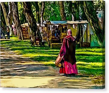 Civil War Encampment  Canvas Print by Bob and Nadine Johnston