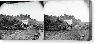Civil War Field Hospital Canvas Print by Granger