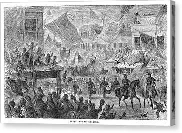 Civil War Little Rock Canvas Print