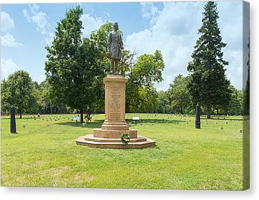 Civil War Memorial To The Fifth Corps Pennsylvania Infantry Canvas Print by John M Bailey
