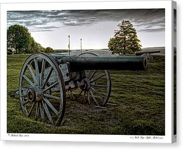Canvas Print featuring the photograph Civil War Rifles by Richard Bean