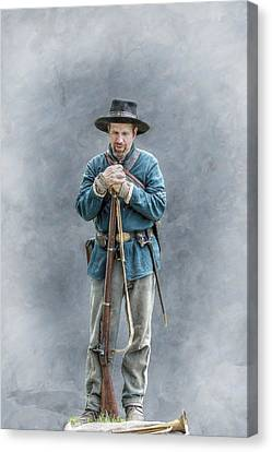 Civil War Soldier Co. F 78th Pvi Canvas Print by Randy Steele