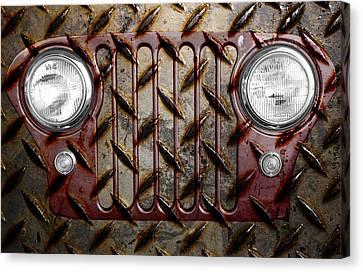 Cj Canvas Print - Civilian Jeep- Maroon by Luke Moore