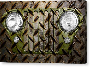 Civilian Jeep- Olive Green Canvas Print by Luke Moore