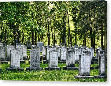 Civitl War Warrior Graves Canvas Print by Linda Phelps