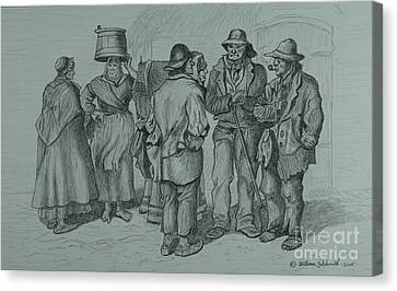 Claddagh People 1873 Canvas Print