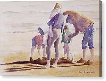 Clam Diggers Canvas Print by John  Svenson