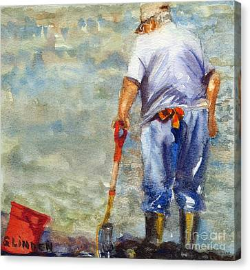 Clamdigger Canvas Print by Sandy Linden