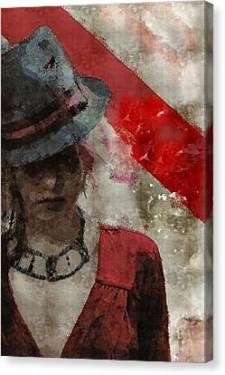 Canvas Print featuring the digital art Clandestine by Galen Valle
