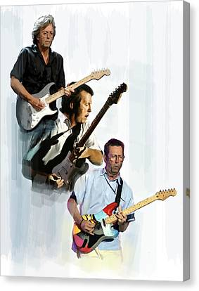 Clapton Eric Clapton Canvas Print by Iconic Images Art Gallery David Pucciarelli
