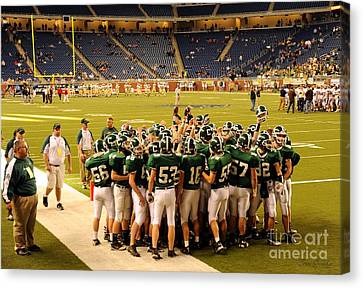 Clare Michigan Canvas Print - Clare Pioneers At Ford Field by Terri Gostola