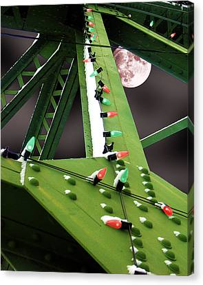 Canvas Print featuring the digital art Clarence's Bridge by Tom Romeo