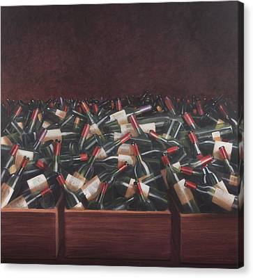 Bars Canvas Print - Claret Tasting by Lincoln Seligman