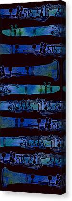 Jazzy Canvas Print - Clarinet Keys by Jenny Armitage