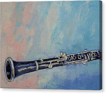 Musique Canvas Print - Clarinet by Michael Creese