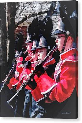 Clarinets And Flutes In The Parade Canvas Print by Susan Savad