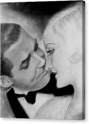 Clark Gable And  Carole Lombard Canvas Print