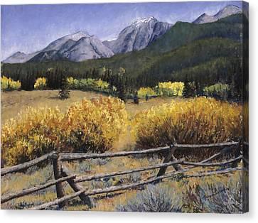 Clark Peak Canvas Print by Mary Giacomini