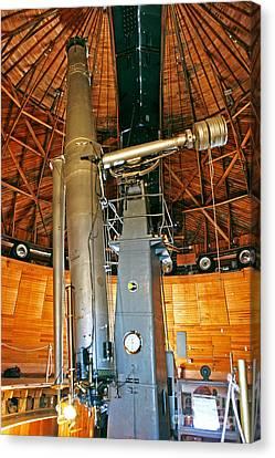Observer Canvas Print - Clark Refractor Telescope by Babak Tafreshi