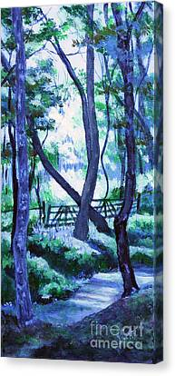 Clarksville Greenway 2 Canvas Print by Janet Felts