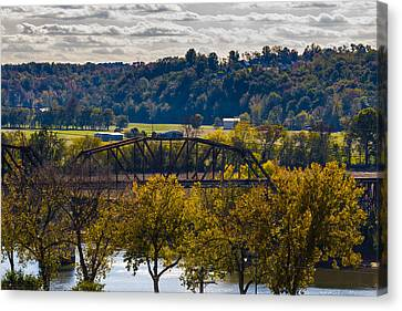 Clarksville Railroad Bridge Canvas Print