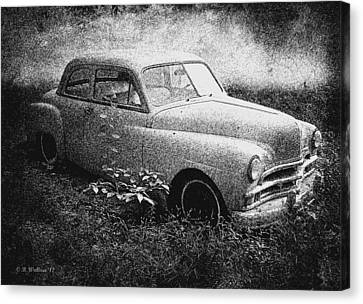 Clasic Car - Pen And Ink Effect Canvas Print by Brian Wallace