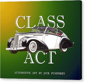 Class Act 1941 Packard Custom Coupe Canvas Print by Jack Pumphrey