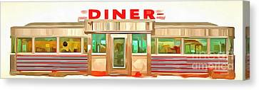 Classic Americana Diner Pop Canvas Print by Edward Fielding