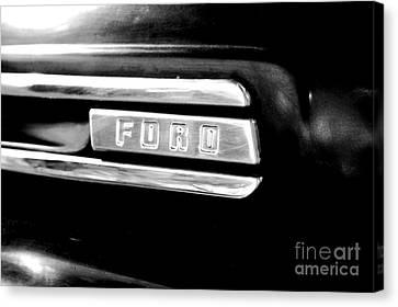 Classic Americana Retro Ford Truck Logo Conte Crayon Digital Art Canvas Print by Shawn O'Brien