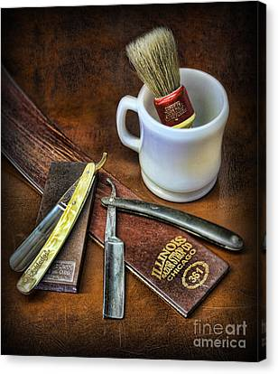 Classic Barber Shop Shave - Barber Shop Canvas Print by Lee Dos Santos