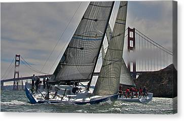 Classic Bay Yachting Canvas Print by Steven Lapkin