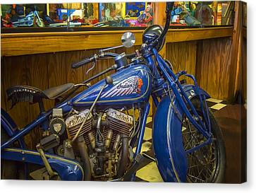 Canvas Print featuring the photograph Classic Blue Indian  by Steve Benefiel
