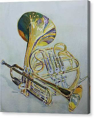 Brass Canvas Print - Classic Brass by Jenny Armitage